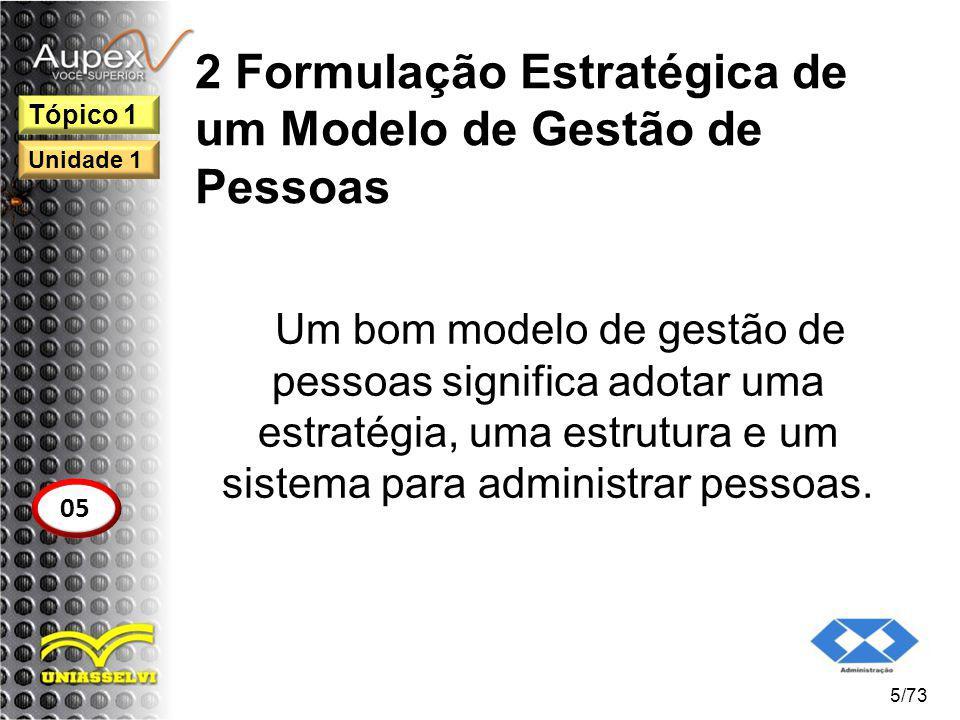 2 Formulação Estratégica de um Modelo de Gestão de Pessoas