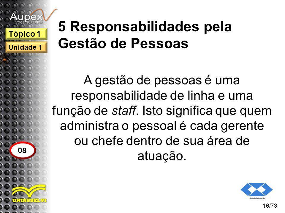 5 Responsabilidades pela Gestão de Pessoas