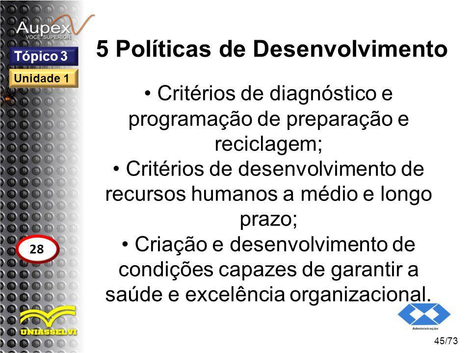 5 Políticas de Desenvolvimento