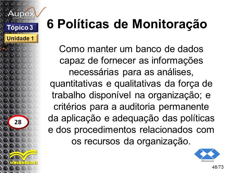 6 Políticas de Monitoração