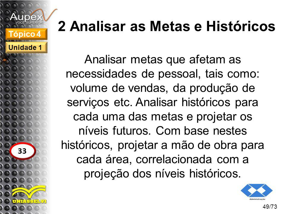 2 Analisar as Metas e Históricos