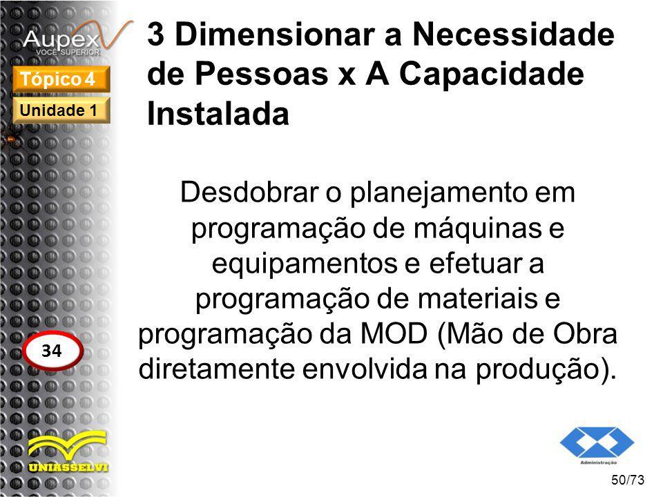3 Dimensionar a Necessidade de Pessoas x A Capacidade Instalada