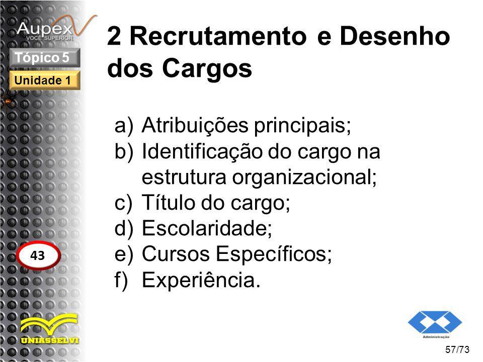 2 Recrutamento e Desenho dos Cargos
