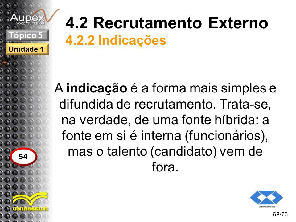 4.2 Recrutamento Externo 4.2.2 Indicações
