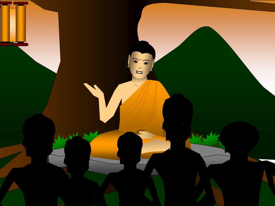 O Buda começou a devotar a sua vida para transmitir a sua filosofia as pessoas comuns.