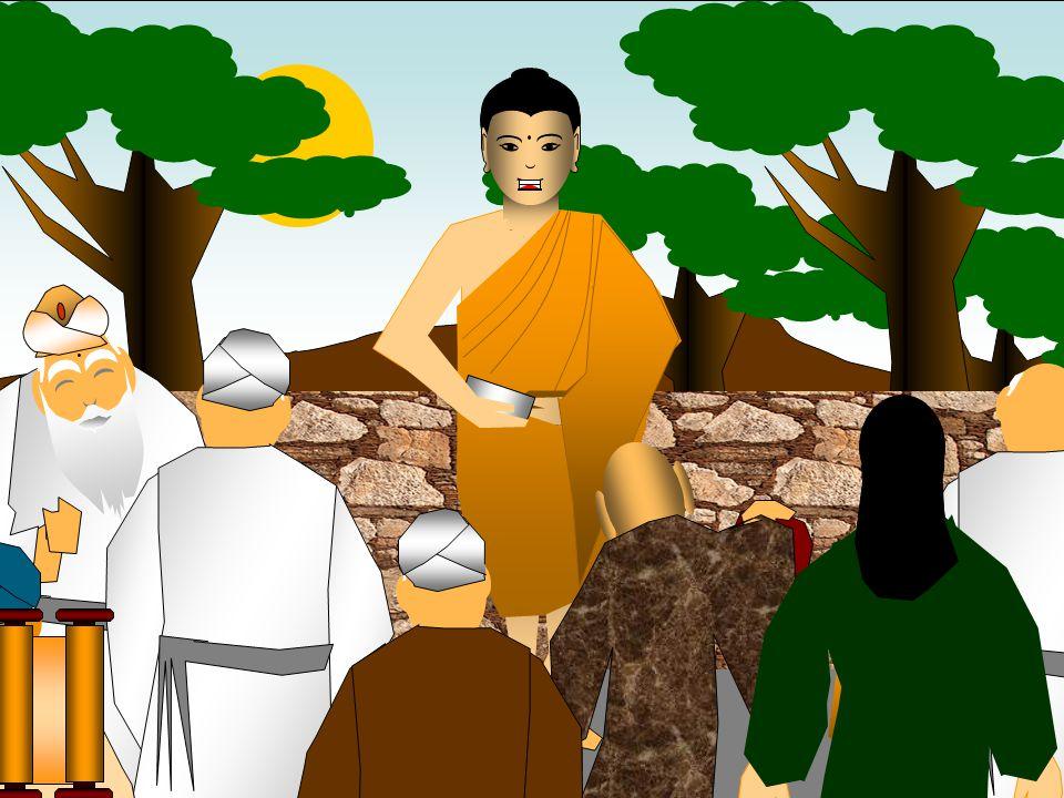 O Buda expôs os seus ensinos através de diálogos com os seus adeptos
