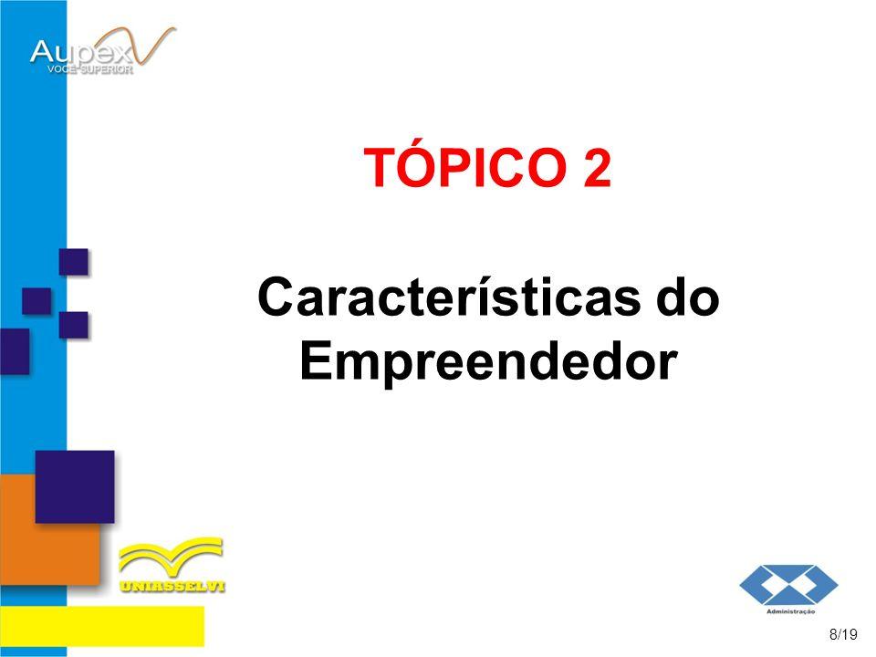 TÓPICO 2 Características do Empreendedor