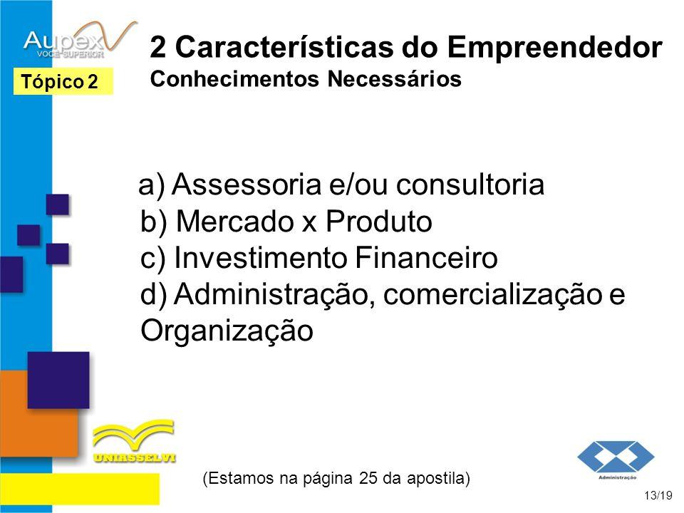 2 Características do Empreendedor Conhecimentos Necessários