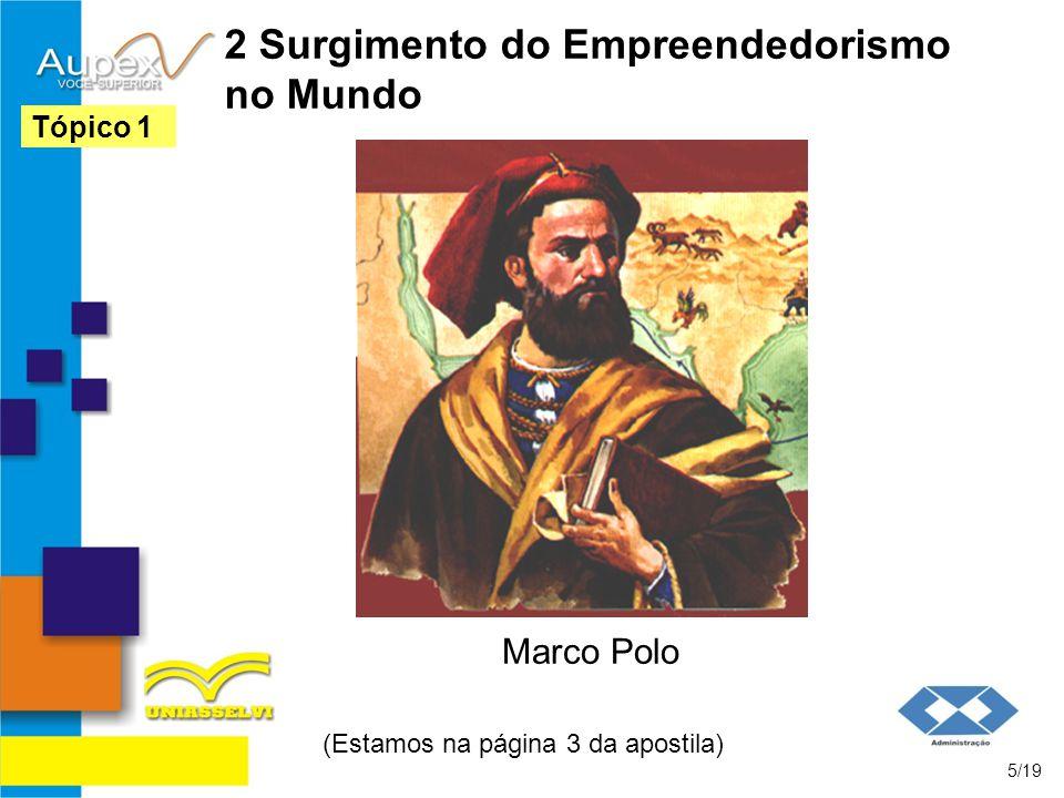 2 Surgimento do Empreendedorismo no Mundo