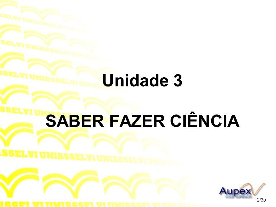 Unidade 3 SABER FAZER CIÊNCIA