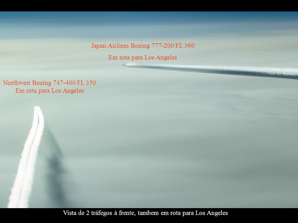 Japan Airlines Boeing 777-200 FL 360 Em rota para Los Angeles