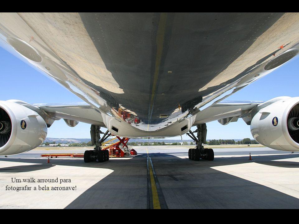 Um walk arround para fotografar a bela aeronave!