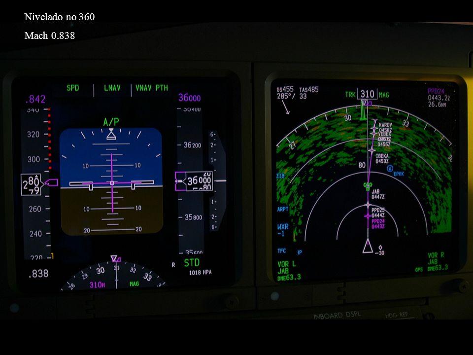 Nivelado no 360 Mach 0.838