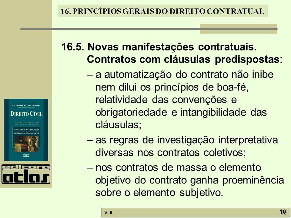 16. 5. Novas manifestações contratuais