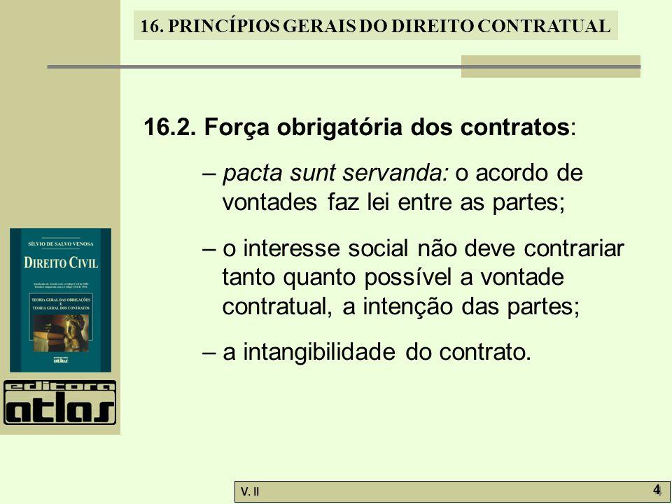 16.2. Força obrigatória dos contratos: