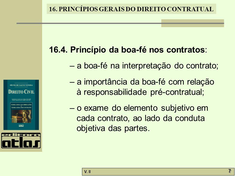 16.4. Princípio da boa-fé nos contratos: