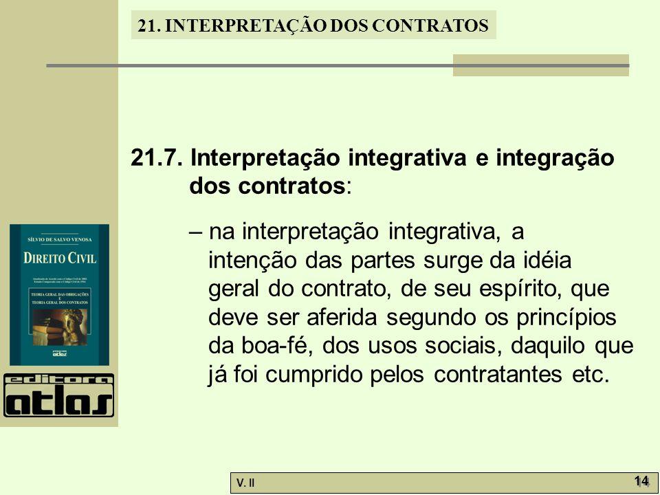 21.7. Interpretação integrativa e integração dos contratos: