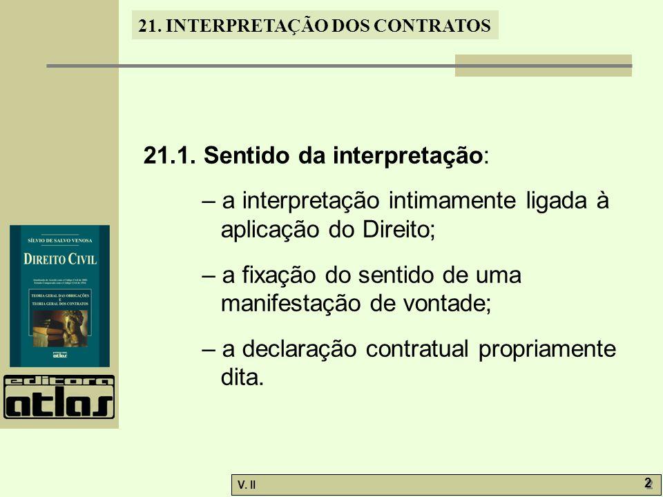 21.1. Sentido da interpretação: