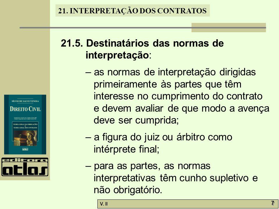 21.5. Destinatários das normas de interpretação:
