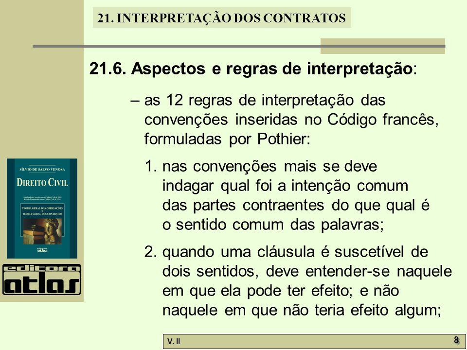 21.6. Aspectos e regras de interpretação: