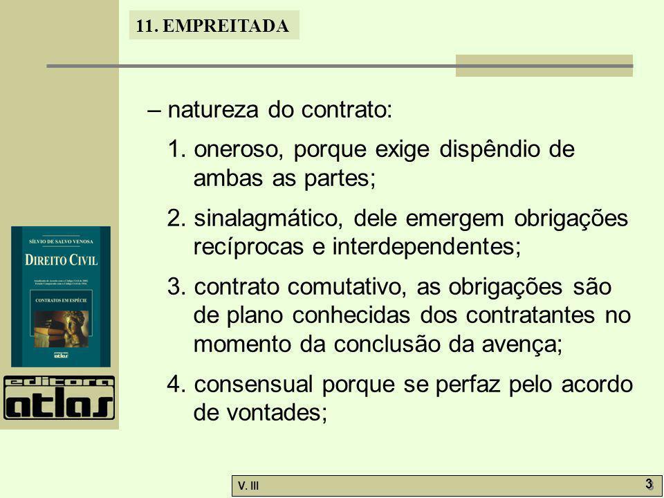 – natureza do contrato:
