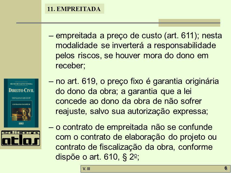 – empreitada a preço de custo (art