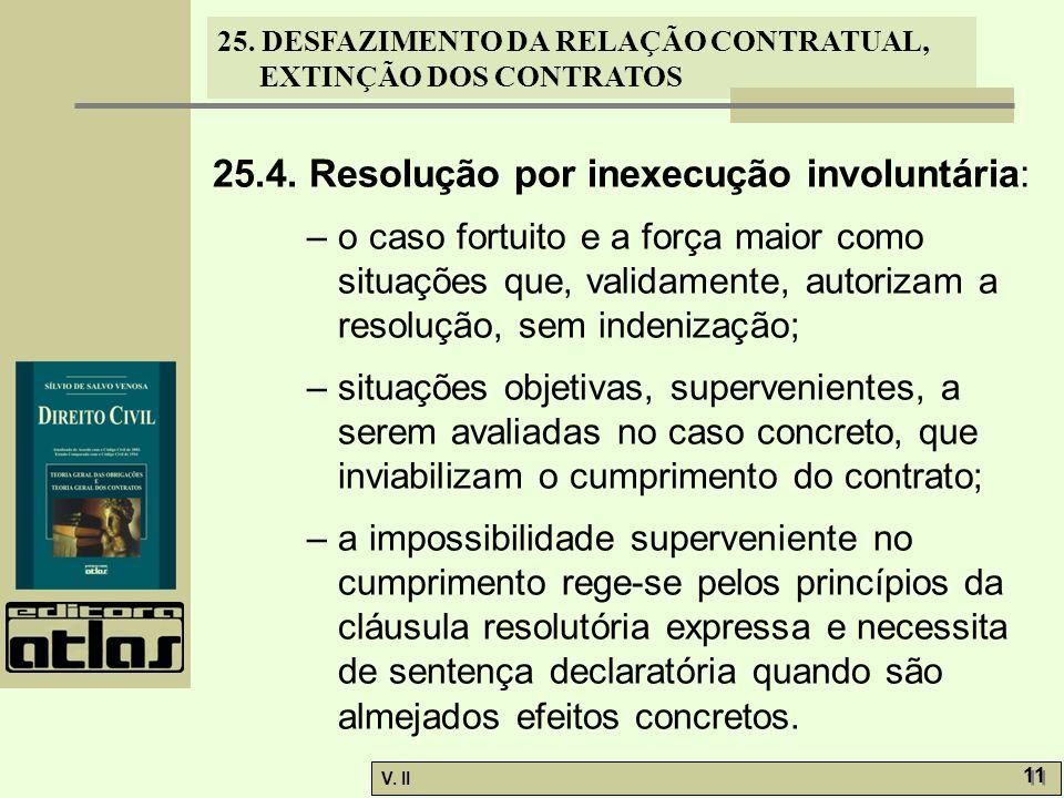 25.4. Resolução por inexecução involuntária: