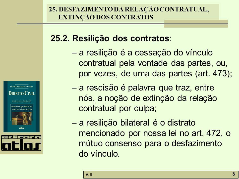 25.2. Resilição dos contratos: