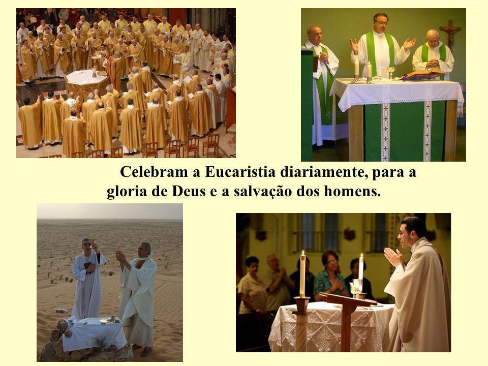 Celebram a Eucaristia diariamente, para a gloria de Deus e a salvação dos homens.
