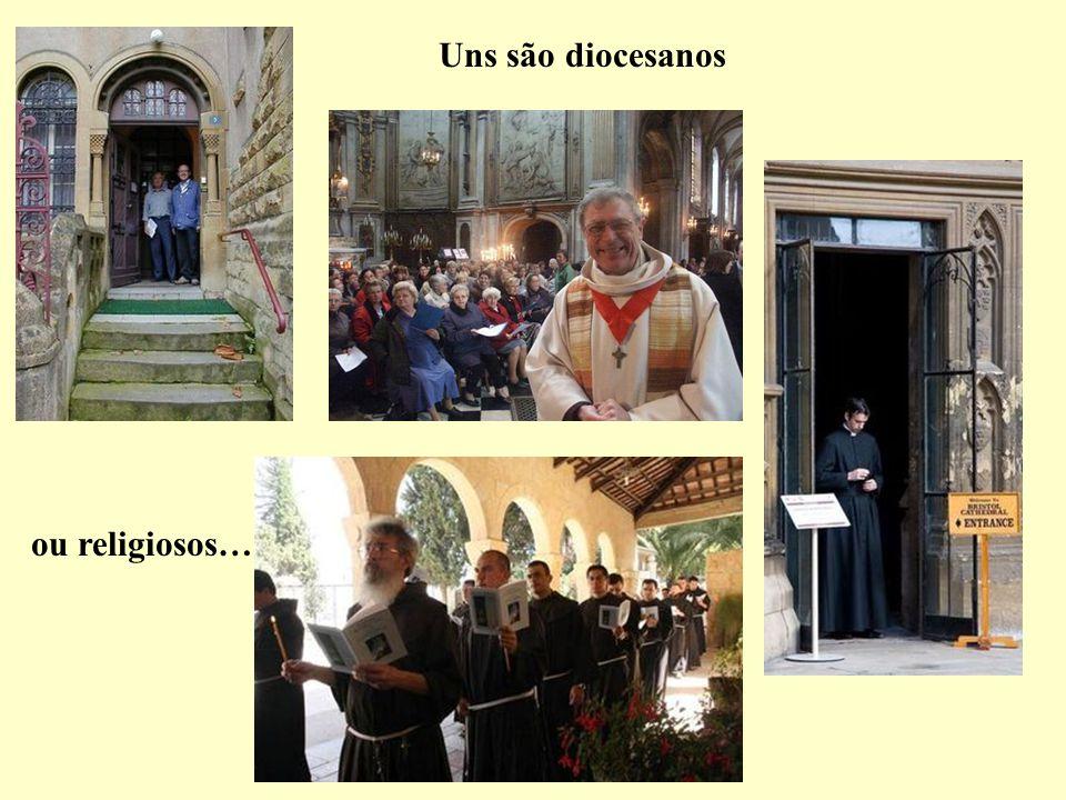 Uns são diocesanos ou religiosos…
