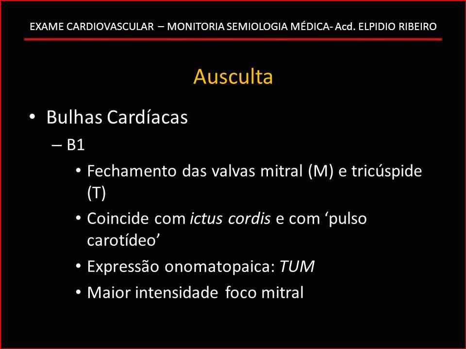 Ausculta Bulhas Cardíacas B1