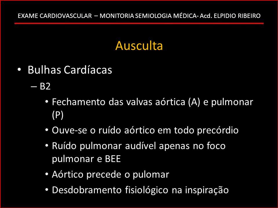 Ausculta Bulhas Cardíacas B2