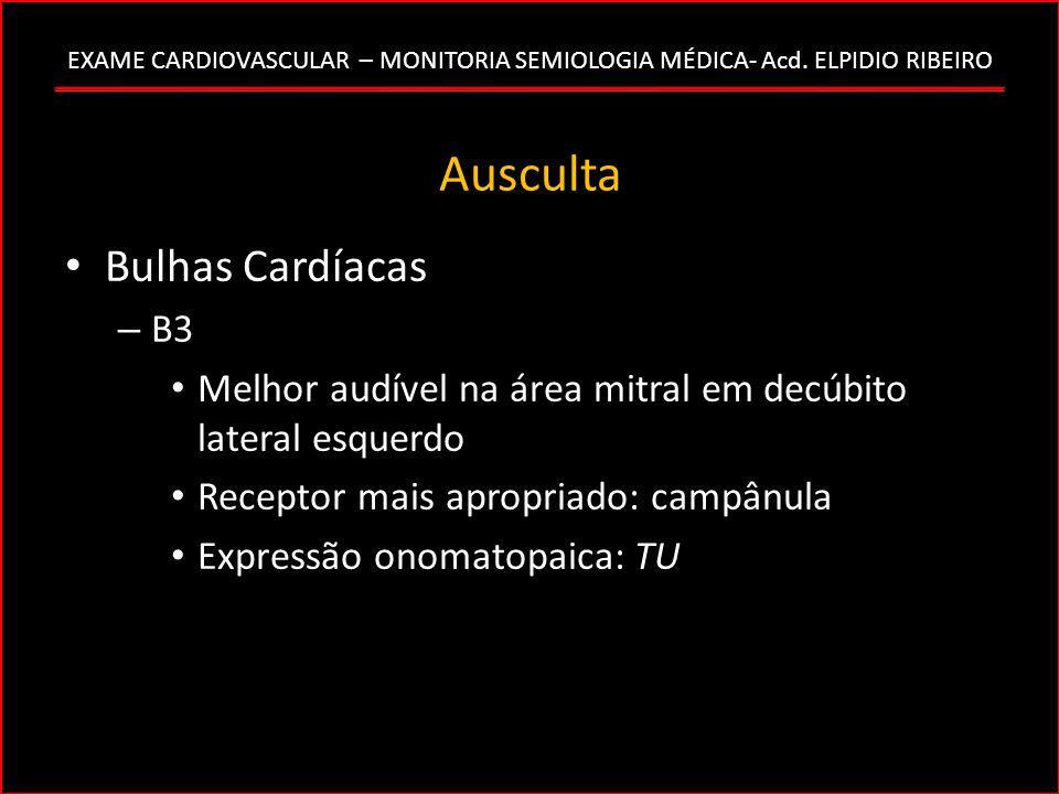 Ausculta Bulhas Cardíacas B3