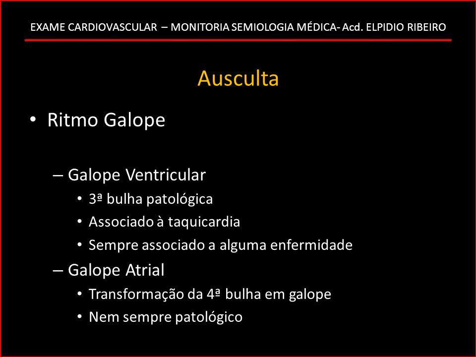 Ausculta Ritmo Galope Galope Ventricular Galope Atrial