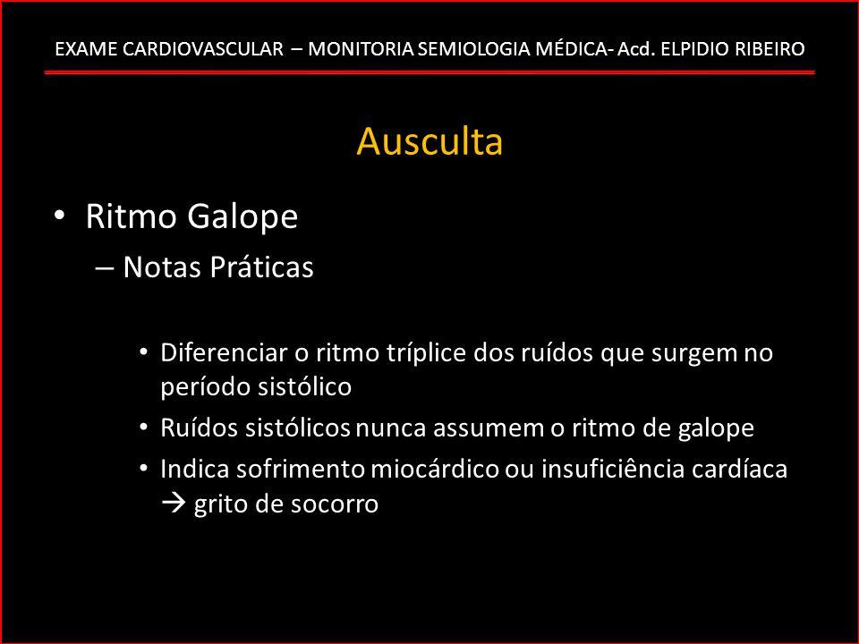Ausculta Ritmo Galope Notas Práticas