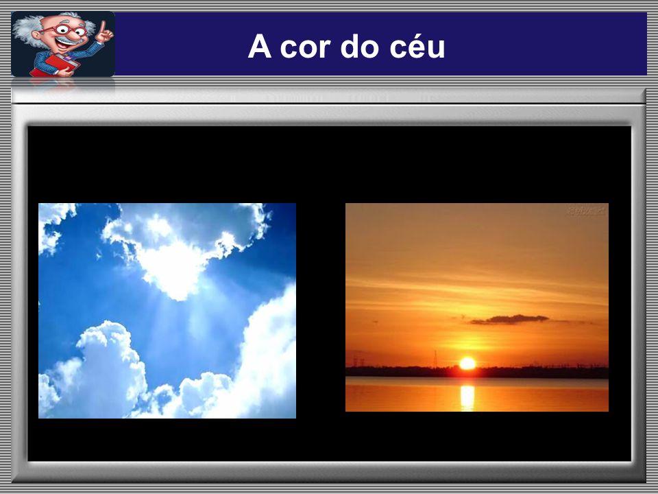 A cor do céu