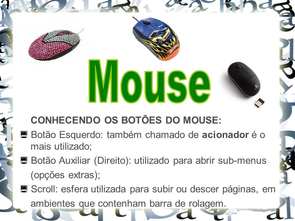 Mouse CONHECENDO OS BOTÕES DO MOUSE: