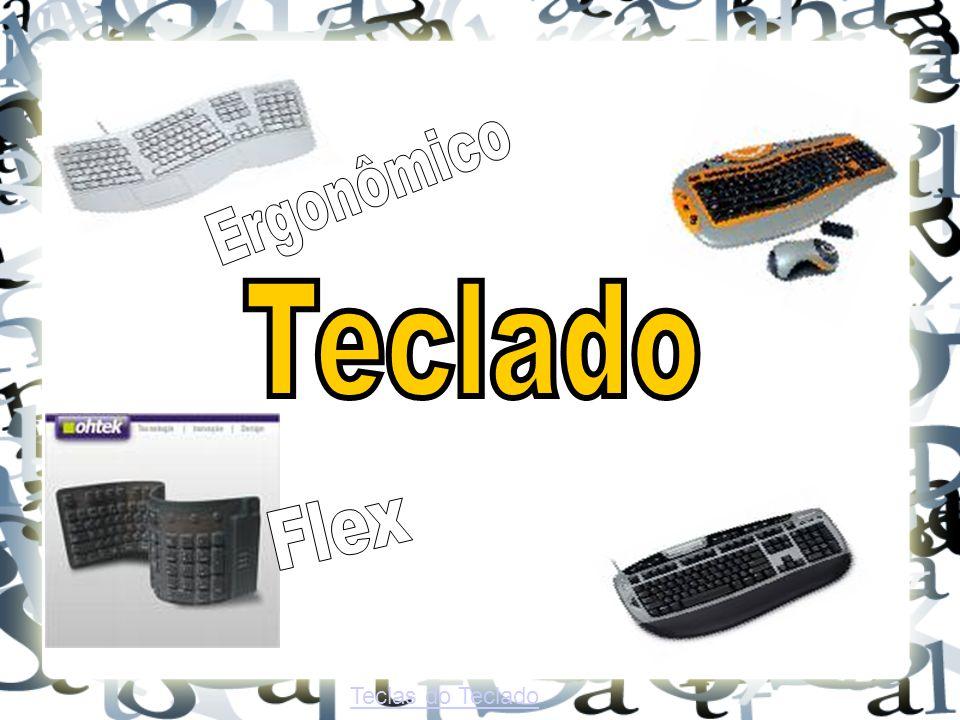 Ergonômico Teclado Flex Teclas do Teclado