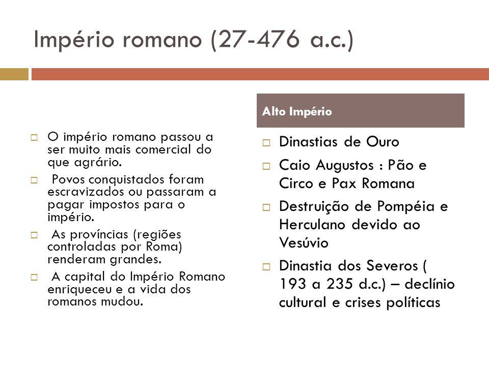 Império romano (27-476 a.c.) Dinastias de Ouro