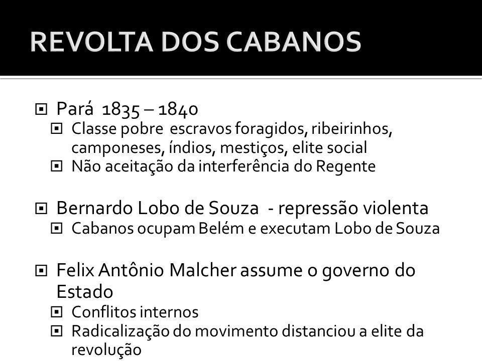 REVOLTA DOS CABANOS Pará 1835 – 1840