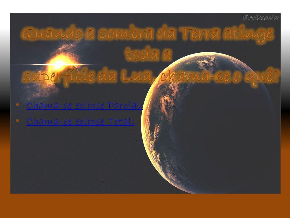 Quando a sombra da Terra atinge superfície da Lua, chama-se o quê