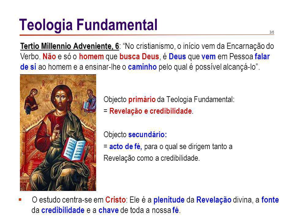 Teologia Fundamental Método essencialmente teológico,