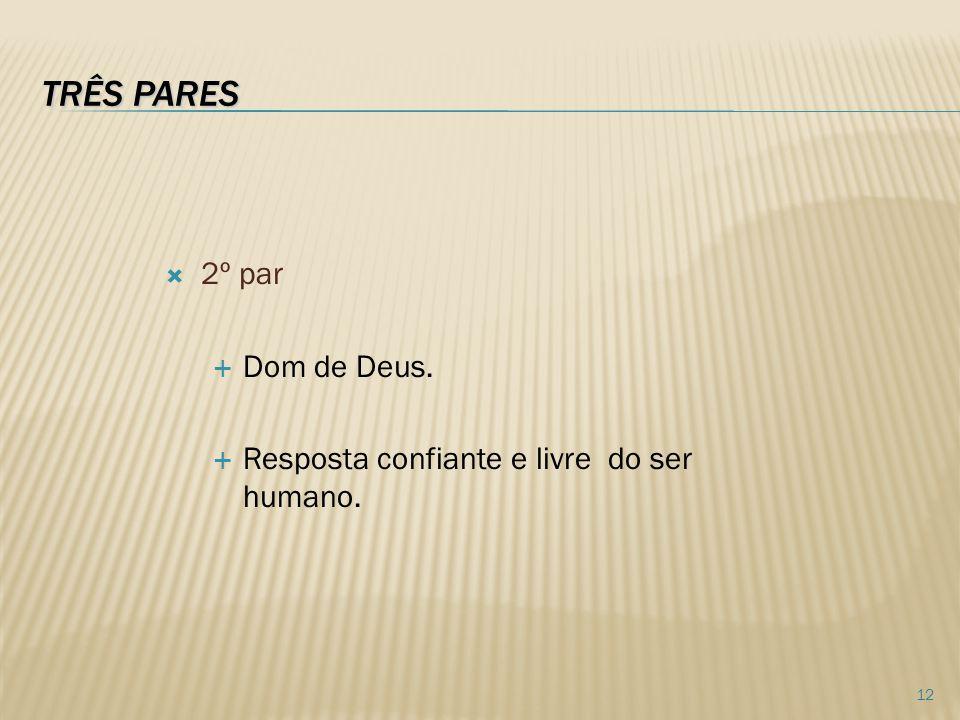 TRÊS PARES 2º par Dom de Deus.