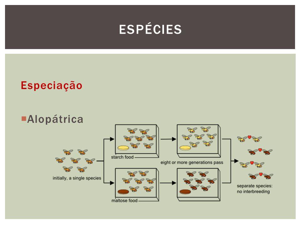 Espécies Especiação Alopátrica