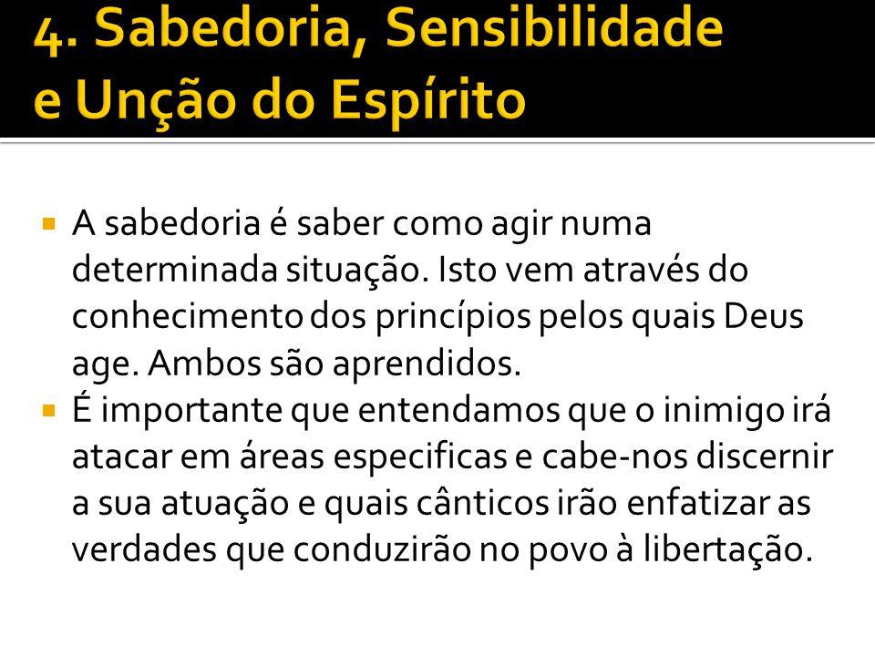 4. Sabedoria, Sensibilidade e Unção do Espírito