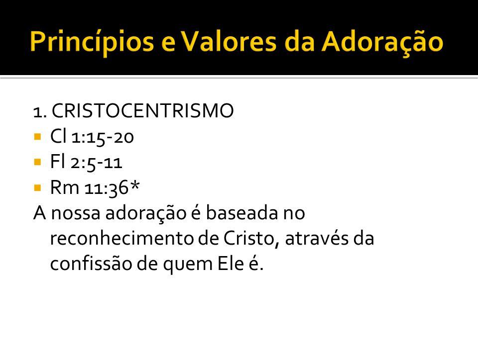 Princípios e Valores da Adoração