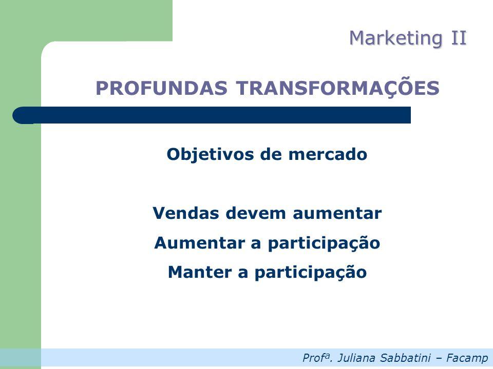 PROFUNDAS TRANSFORMAÇÕES Aumentar a participação