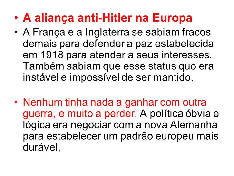 A aliança anti-Hitler na Europa