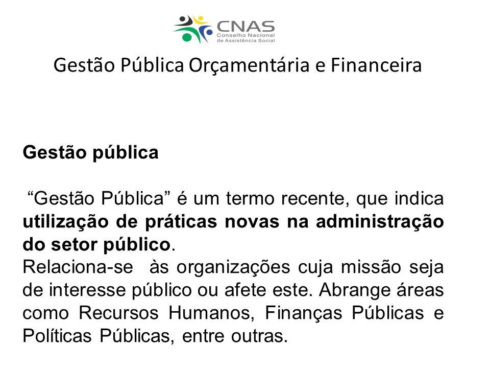 Gestão Pública Orçamentária e Financeira
