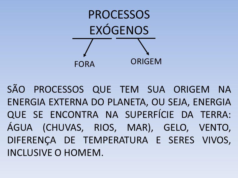 PROCESSOS EXÓGENOS ORIGEM. FORA.